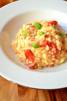 7/13. Tomato and Basil Risotto. Yum. Use 2 cups risotto (350 grams).