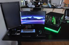 Temporary battlestation where I eat work and play.