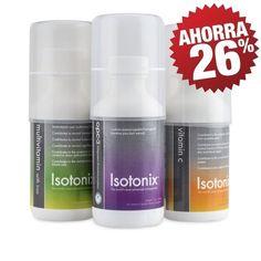 Contiene: Isotonix OPC-3 (30 porciones); Isotonix Vitamina C (30 porciones); Isotonix Multivitaminas (30 porciones)
