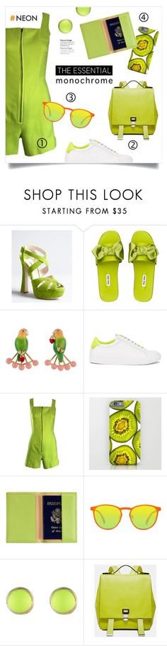 """""""One Color Head to Toe"""" by grrr8style ❤ liked on Polyvore featuring Miu Miu, Les Néréides, Givenchy, Claude Montana, Royce Leather, GlassesUSA and Proenza Schouler"""