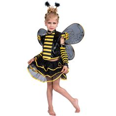 EraSpooky Little Girls Halloween Punky Bee Costume Set(Black Yellow, Medium) Best Halloween Costumes & Dresses USA Christmas Costumes, Halloween Costumes For Kids, Little Girl Halloween, Carnival Outfits, Girl Costumes, Children Costumes, Animals For Kids, Black N Yellow, Tutu