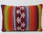 geometric cushion 16X24 throw pillow sets geometric throw pillow retro pillow cover sitting pillow rainbow pillows kilim pillow sham 18605