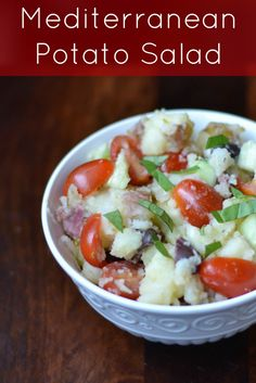 mediterranean potato salad.  I am not a big fan of potato salad but this one looks really healthy