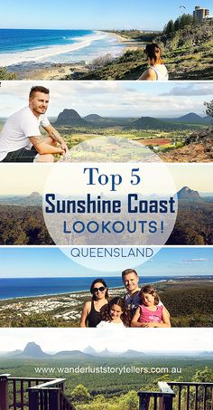 The top 5 Sunshine Coast Lookouts! A perfect addition to your list of things to do whilst visiting the beautiful Sunshine Coast in Queensland Australia. Point Cartwright Lighthouse Lookout | Mt Ngungun Lookout | Mt Coolum Lookout | Mary Cairncross Lookout | Glasshouse Mountains Lookout! Read more on wanderluststorytellers.com.au