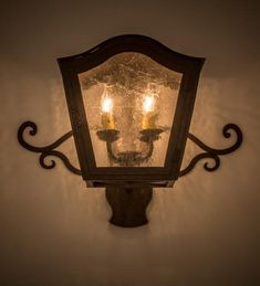 """21.5""""W Christian Victorian Wall Sconce"""