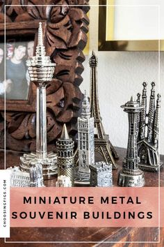 Collected: Miniature Metal Souvenir Buildings from around the world. Travel Around The World, Around The Worlds, The Bell Jar, Travel Souvenirs, Traveling By Yourself, Bookends, Beautiful Homes, Miniatures, Buildings