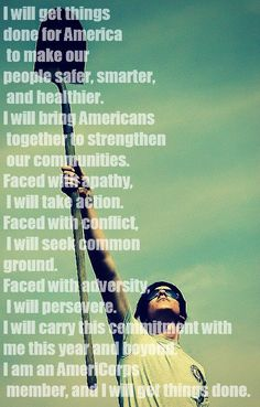The #AmeriCorps pledge... Can not wait to begin serving in less then two weeks...so blessed!:)