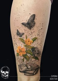 Awe-inspiring Book Tattoos for Literature Lovers Awe-inspiring Book Tattoos for Literature Lovers December 2017 Tattoos are a form of self-expression. They ar Writer Tattoo, Book Tattoo, Scar Tattoo, Bookish Tattoos, Literary Tattoos, Dragon Tattoo Back Piece, Dragon Sleeve Tattoos, Book Inspired Tattoos, Body Art Tattoos