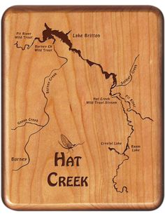 1000 images about california river map fly boxes on for Hat creek fishing