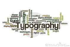 Typografie: Is het vormgeven, zetten en drukken van tekst.