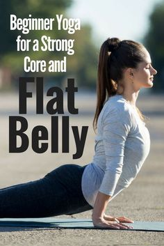 Beginner yoga for a strong core and flat belly.Does the idea of doing countless crunches make you shudder? Thankfully, you don't have to do crunches for a flat belly. All you need are these yoga moves! Diy Yoga, Yoga Restaurativa, Hatha Yoga, Yoga Moves, Restorative Yoga, Yoga Meditation, Yoga Flow, Iyengar Yoga, Yoga Exercises