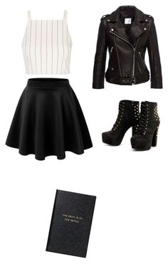 """"" by privezenceva-arina on Polyvore featuring мода, Anine Bing, Topshop и Smythson"