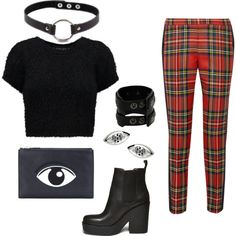 A fashion look from March 2015 featuring crop t shirt, high waisted pants and black leather boots. Browse and shop related looks. Even And Odd, Black Leather Boots, Kenzo, Moschino, Steve Madden, Fashion Looks, Cute Outfits, Punk, Polyvore