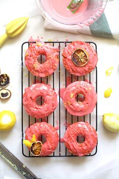 Pink Lemonade Donuts Recipe | Sugar & Cloth