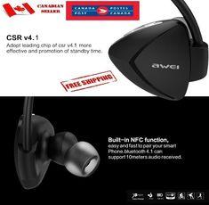 Awei A840BL Bluetooth 4.1 Headphone Waterproof Earphones Wireless NFC #Awei