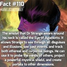 Hoping we get to see all of these cool exclusively trademark Doctor Strange things in the movie such as the eye of Agamotto.