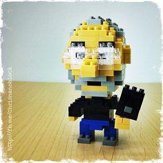 "Steve Jobs LEGO ""nanoblock"" build by Christopher Tan"