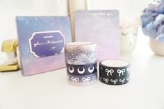 Dreamy galaxy & bow washi by simply gilded Washi Tape Set, Sticky Notes, Journal Cards, Happy Planner, Paper Goods, Pens, Planners, Markers, Journals