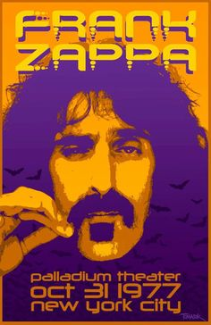 Rare Mini Print/Poster - Size: A4 (Approximately: 21 cm x 29.7 cm) 8.27 inches x 11.7 inches. Frank Zappa, New Me, Concert Posters, New York City, Poster Prints, The Unit, Mini, New York, Nyc