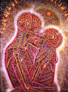 """""""Kissing"""" by Alex Grey"""