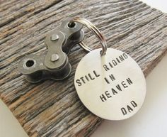 365005e8dce In Memory of Dad Father's Day Gift for Brother Keyring Motorcycle Dad  Memorial Keychain Son Death Be