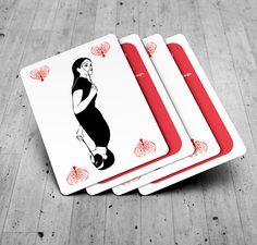 zaproszenia ślubne w formie kart do gry
