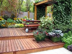 Lovely deck area