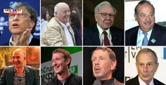 Os 8 maiores bilionários juntos possuem uma fortuna equivalente a renda da metade mais pobre do mundo.