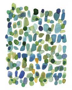 Regenachtige dag Waterverf schilderij abstract door LouisestArt