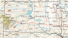 image detail for map of south dakota