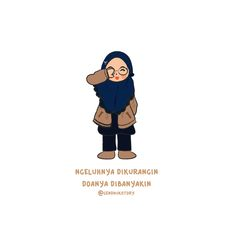 Doanya dibanyakin Ngeluhnya dikurangin Quotes Lucu, Quotes Galau, Muslim Quotes, Hijab Quotes, Moslem, Islamic Cartoon, Anime Muslim, Hijab Cartoon, Cartoon Quotes