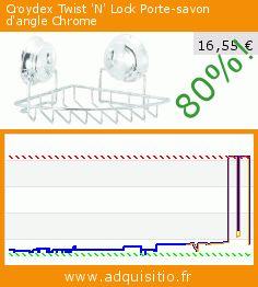 Croydex Twist 'N' Lock Porte-savon d'angle Chrome (Cuisine). Réduction de 80%! Prix actuel 16,55 €, l'ancien prix était de 82,12 €. http://www.adquisitio.fr/croydex/twist-n-lock-porte-savon-2