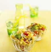 Chicken Pasta Salad with Honey Soy Dressing