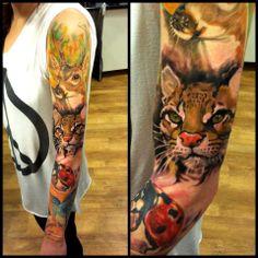 Radu Rusu, Sweden. #Tattoo #sleeve #colortattoo #tatuaż #rękaw #sztuka