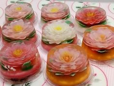 No.8  Flower Jelly  Gelatina Artistica  How to フラワーゼリーの作り方