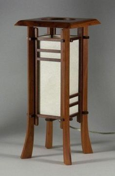 Asian Home Decor, really cool to tasteful inspiration, analyze the example ref 1160646020 today. Japanese Lamps, Japanese Bedroom, Japanese Furniture, Wooden Lanterns, Wooden Lamp, Modern Bedroom Furniture, Diy Furniture, Japanese Style House, Woodworking Inspiration