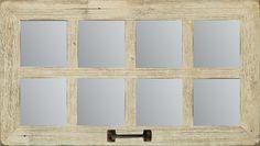 NEW RECLAIMED DISTRESSED BARN WOOD WINDOW 8 PANE MIRROR COUNTRY RUSTIC DECOR #Handmade #Southwestern