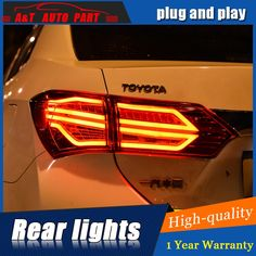 269.56$  Buy here - http://aliucj.worldwells.pw/go.php?t=32751557833 - Car Styling LED Tail Lamp for TOYOTA Corolla Tail Lights 2014-2016 For Corolla Rear Light DRL+Turn Signal+Brake+Reverse light