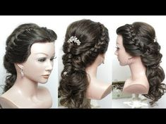 2 Easy Hairstyles For Long Hair Tutorial. Ponytail And Updo With Braids - YouTube
