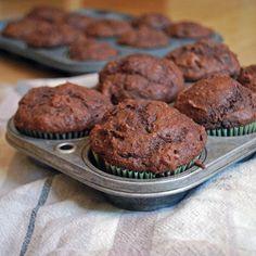 Chocolate Beet Muffins via @CakeStudent