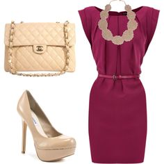 Cocktail dress and killer heels, also great for work in the summer or match it with a tope sweater.