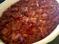 Southern Baked Beans with bacon | A Still Magnolia Blog