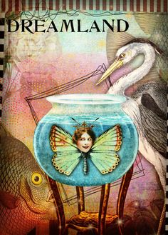 https://flic.kr/p/GbARTE | MH ATC Delightful 2 2016 | Melissa Hines ATC 2016. using images from #TumbleFishStudio available at Mischief Circus.com
