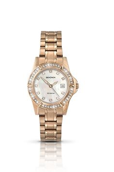 014b8468242 Sekonda Women s Quartz Watch with White Dial Chronograph Display and Rose  Gold Stainless Steel Bracelet 4618.27  Sekonda  Amazon.co.uk  Watches