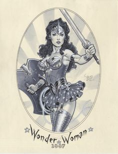 Steampunk Wonder Woman by Michael Dooney Wonder Woman Art, Wonder Woman Kunst, Wonder Women, Comic Book Characters, Comic Character, Comic Books Art, Super Girls, Super Women, Justice League