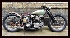 Knucklehead bobber motorcycle