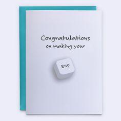"""Retirement Card, """"Making Your Escape"""" - Wünsche Zum Ruhestand Diy Retirement Cards, Retirement Greetings, Retirement Ideas, Teacher Retirement, Birthday Greetings, Birthday Wishes, Greeting Card Companies, Funny Greeting Cards, Funny Cards"""