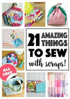 100 Brilliant Projects to Upcycle Leftover Fabric Scraps - Sidentic Easy Sewing Projects, Sewing Projects For Beginners, Sewing Hacks, Sewing Tutorials, Sewing Crafts, Sewing Tips, Begginer Sewing Projects, Diy Projects, Bag Tutorials