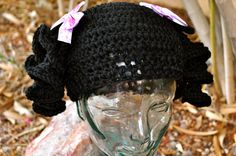 Crochet Wig Hat with Pig Tails by toolittlemonsters on Etsy, $35.00