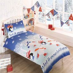 Let It Snow, Christmas Single Bedding #letitsnowduvet #christmasbedding http://www.childrens-rooms.co.uk/let-it-snow-christmas-single-bedding.html